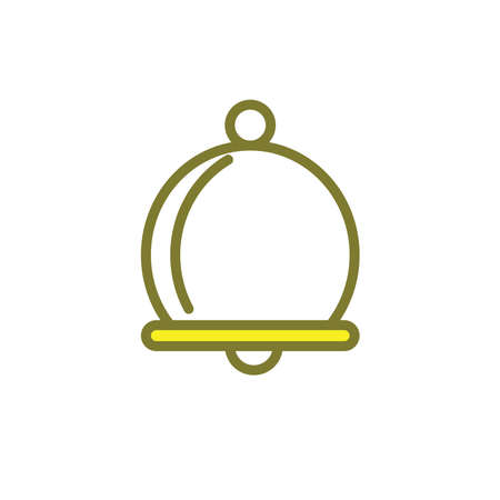 Illustration Vector graphic of bell icon. Fit for sound, sign, alarm, call, alert, simple, design, doorbell, signal, object, notification, reminder, tone etc.