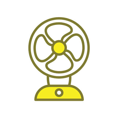 Illustration Vector graphic of fan icon. Fit for airflow, cooling, electricity etc. Vetores