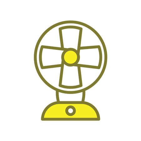 Illustration Vector graphic of fan icon. Fit for airflow, cooling, electricity etc.