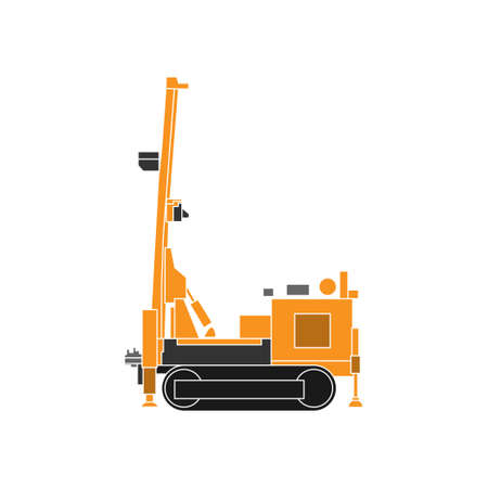 Illustration Vector graphic of Drilling vehicle design