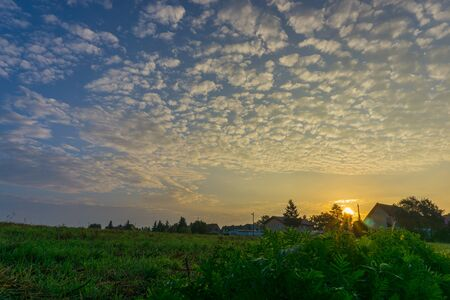 falkensee: beautiful clouds on sunrise