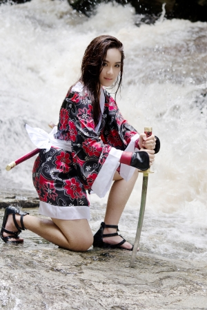 Samurai girl photo