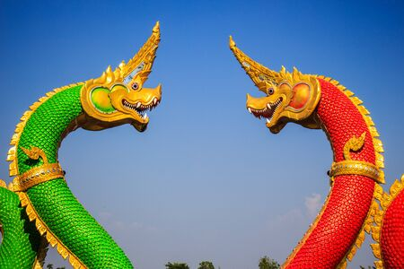 great naga at wat saman, thailand