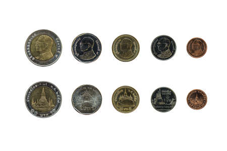 Thailand coin types, which are used today.
