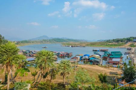 Landscape in Sangkhla Buri District kanchanaburi thailand,Unseen thailand Stock Photo