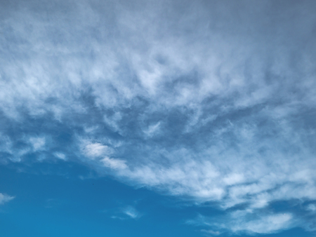 Idyllic Blue sky background with white cloud,cloudscape concept