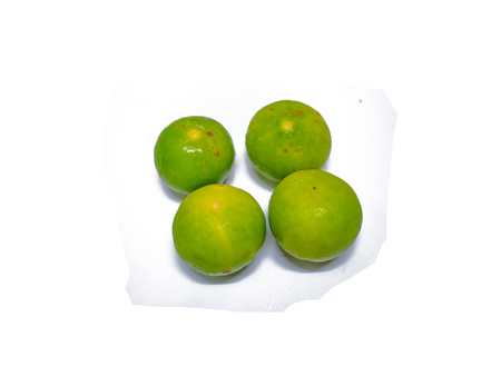 Group of lime on isolated background