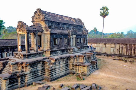 Ankor wat temple in siem reap city cambodia,wonder of the world
