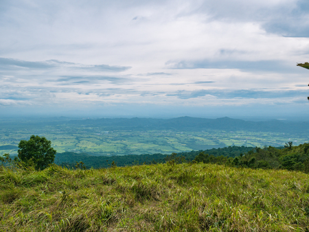 Beautiful nature and cloud sky view on Khao Luang mountain in Ramkhamhaeng National Park,Sukhothai province Thailand