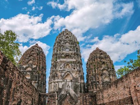 Wat si sawai Temple  At sukhothai historical park,Sukhothai city Thailand