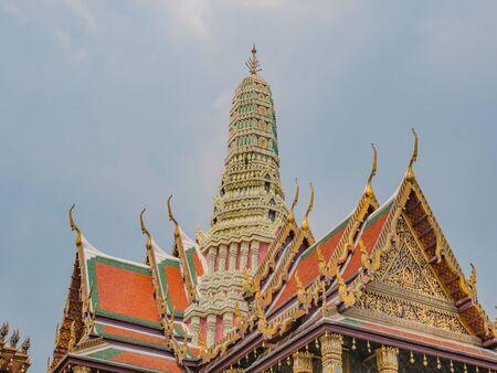 Wat phra kaew temple at bangkok city Thailand. Wat Phrakeaw Temple is the main Temple of bangkok Capital of Thailand Stock fotó