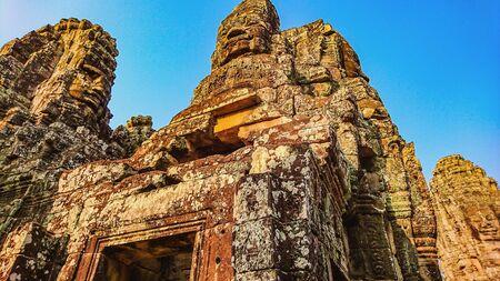 bayon temple angkor wat siem reap cambodia,wonder of the world