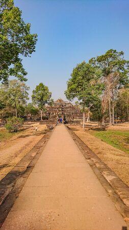 Ancient stone castle in Angkor wat Angkor Thom