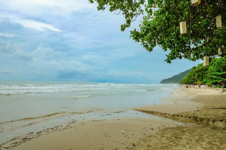 Beautiful Tropical Beach with nature Beside the beach on Koh chang Trat Thailand 写真素材