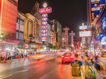 Bangkok/Thailand- 15 November 2018;Unacquainted Thai people or tourist walking in Bangkok China town Thailand
