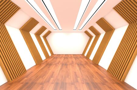 Empty Room decorated with wood wall and wood floor Stock Photo - 11465586