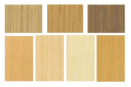 Set of wooden textures on white background. photo