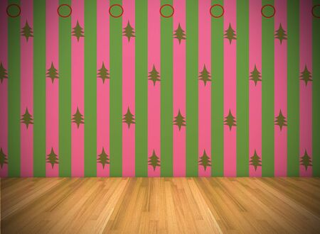 Empty Room With Christmas Wallpaper photo
