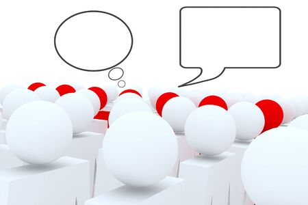 brain storm: 3d people Head and face meeting for brain storm. Stock Photo