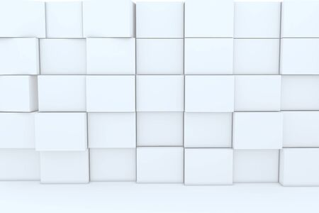 3D blank box for backgrounds. Stock Photo