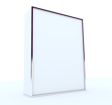 blank box display new design aluminum frame template for design work,isolate on white background. Stock Photo - 11727926