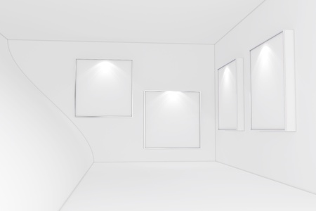 Abstract Gallery Interior  版權商用圖片