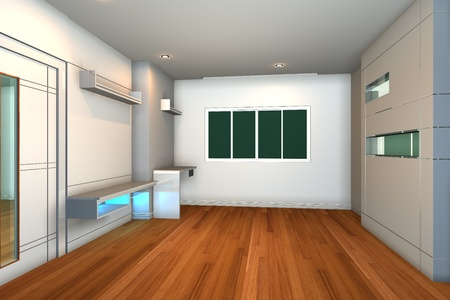 Empty inter for bedroom with white wall Stock Photo - 12054535