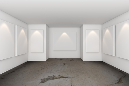 Gallery Interior Room With Grunge Concrete Floor photo