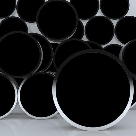 3D en blanco negro abstracto pantalla redondeada cuadro de nuevo dise�o de marco de aluminio de plantilla para el trabajo de dise�o, en el fondo blanco