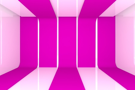 Home inter 3D rendering with empty room pink color wall  Stock Photo - 12939215