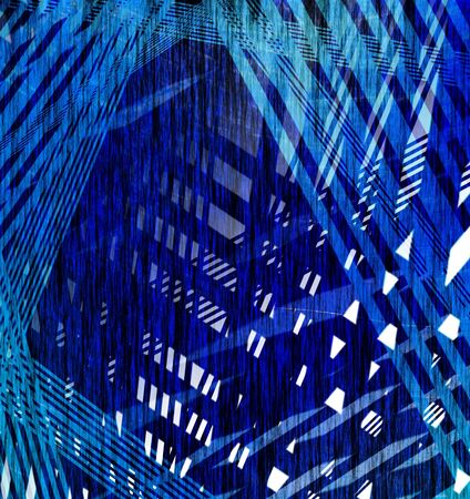 Abstract blue line fiber for backgrounds  photo