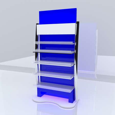 Blue shelf design with white background Stock Photo - 13520904