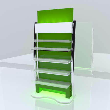 Green shelf design with white background  photo
