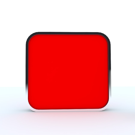 Red blank box display new design aluminum frame template for design work,isolate on white background Stock Photo - 13663145