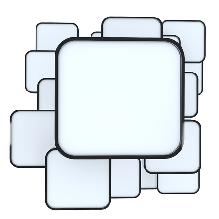 3D blank abstract white box display new design aluminum frame template for design work Stock Photo - 13704633