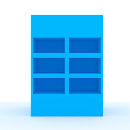 Color blue shelf design with white wall Stock Photo - 13704626