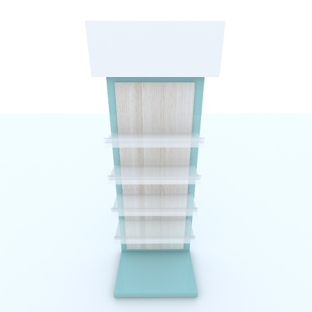 Color blue shelf design on white background. Stock Photo - 13725949