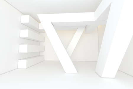 Abstract white empty room photo