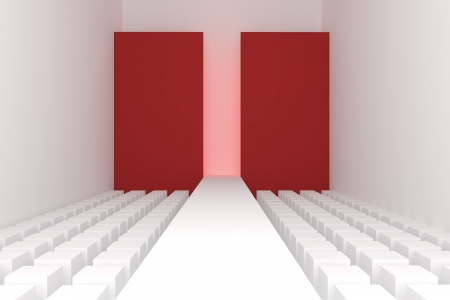 3d Empty fashion runway  photo