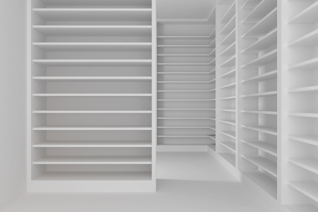 Empty room with shelves  photo