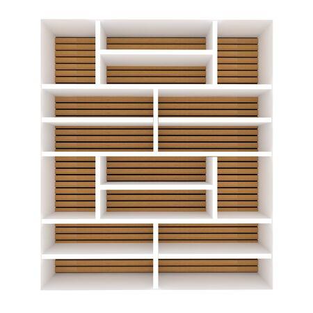 Empty shelves design on white background Stock Photo - 14305581