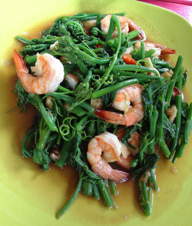 Stir-fried vegetables with shrimp  thai food Stock Photo - 14545958