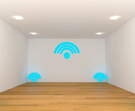 empty room with wireless Wifi photo