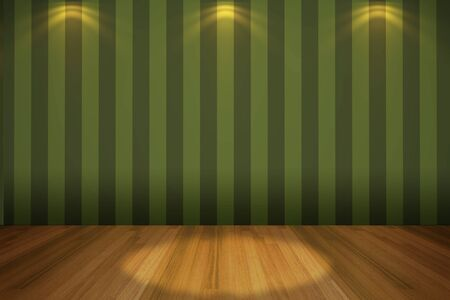 Interior rendering with empty room color wall and decorated with wooden floors   photo