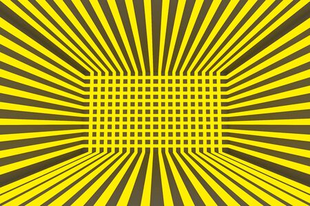 Abstract empty room with yellow laser light  photo