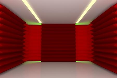 Extracto rojo serrado pared con espacio vac�o Foto de archivo