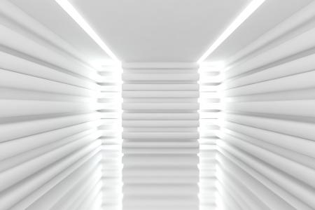 Resumen habitaci�n blanca vac�a con pared curva