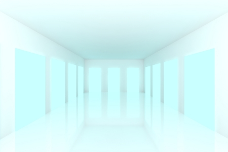 White Empty room with abstract color blue door Stock Photo - 15471913