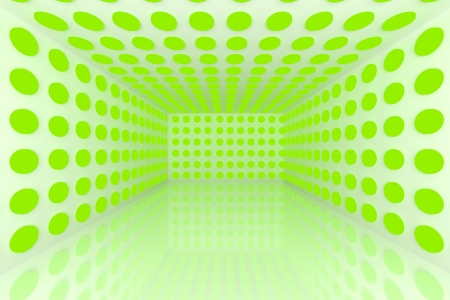 Empty room with abstract color green lighting sphere Stock Photo - 15548767