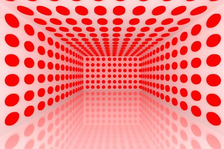 Empty room with abstract color red lighting sphere Stock Photo - 15548764